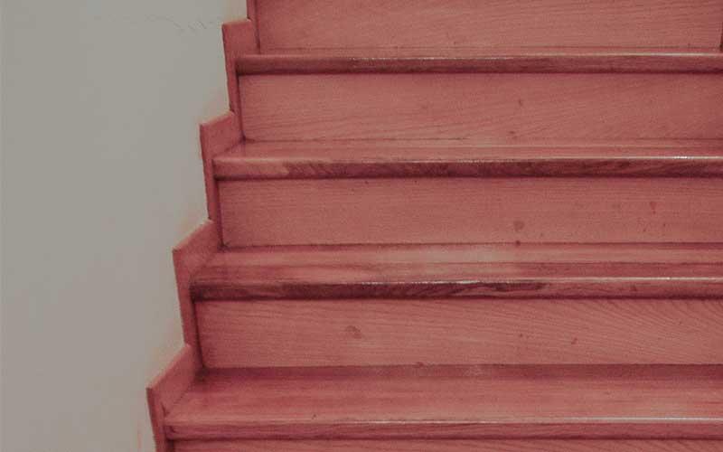 Ξύλινες σκάλες οξιά.